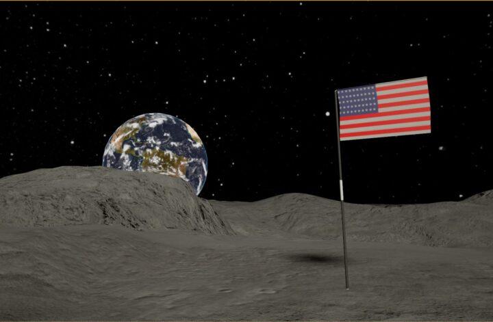 vlag amerika maan rechten
